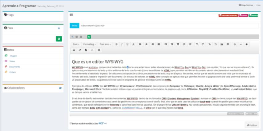 Editor WYSIWYG para ASP