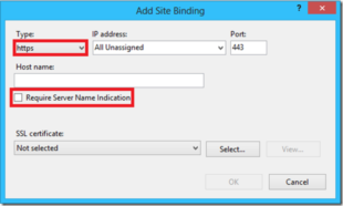 Add Site Binding
